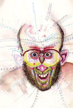 WASHINGTON D.C - L'artiste Bryan Lewis Saunders test l'effet des drogues sur son inspiration, son style graphique et surtout pour ressentir comment la drogue affecte l'autoperception.
