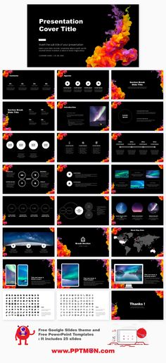 Acrylic Color Ink Design Presentation – Free Google Slides theme and PowerPoint template