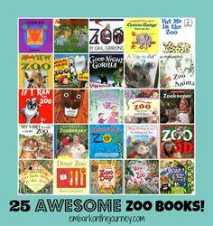 25 Awesome Zoo Books! | embarkonthejourney.com