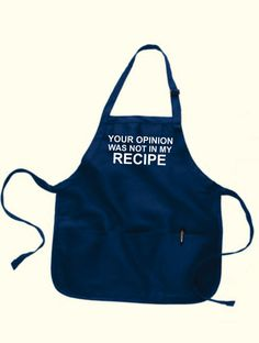 Grandma Apron Personalized Aprons Gifts YOUR OPINION by gulftees