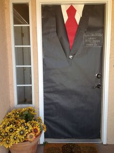 Decorate your front door for your missionary's homecoming (or farewell open house)