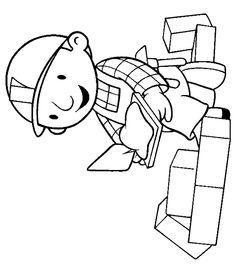 Bob de Bouwer als metselaar Coloring Pages For Kids, Adult Coloring, Bob The Builder, Community Helpers, Crafts For Kids, Clip Art, Crafty, Caterpillar, School