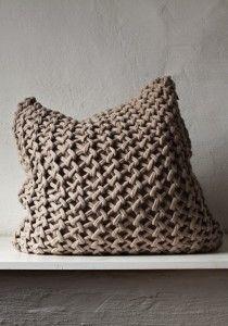 knit pillow