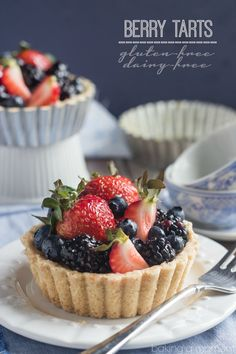 These gorgeous berry tarts were so simple to make and they tasted so good I couldn