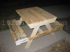 pallet picnic table plans