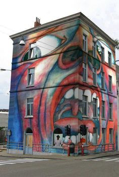 Awesome building mural