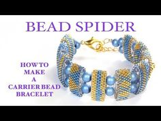 How to make a carrier bead bracelet AND how to read a peyote pattern. - YouTube