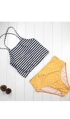 Liegrasse Striped Flower Printed Bikini Set Swimsuit High Waist Bikini Swimwear Neck Push Up Monokini Beachwear Bathing Suit Bathing Suits For Teens, Swimsuits For Teens, Tankini Swimsuits For Women, Cute Bathing Suits, Two Piece Swimsuits, Cute Swimsuits High Waisted, Swimwear, Push Up Swimsuit, Striped Swimsuit