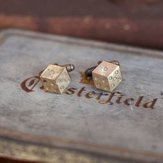 Roll A Dice Cufflinks now featured on Fab.