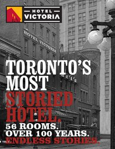 Hotel Victoria in downtown Toronto. Tres chic rooms and the diner off the lobby is a must for breakfast.