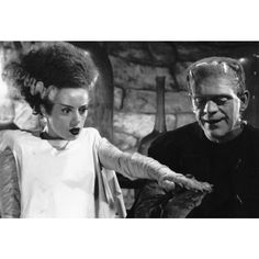 Bride of Frankenstein Poster, Classic Horror Film ($9.95) ❤ liked on Polyvore featuring home, home decor and wall art