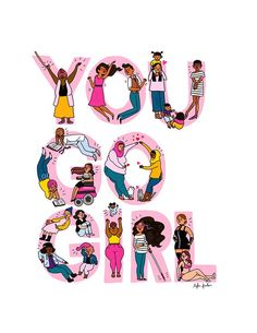 You Go Girl Print – Hand-Illustrated Bild 0 Feminismo (Visited 2 times, 1 visits today) Hand Illustration, Girl Illustrations, Buch Design, You Go Girl, Like A Girl, This Girl Can, Perfect Mother's Day Gift, Feminist Art, Ladies Day