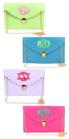 We love the bright Spring colors on these  Monogrammed Luxe Cross Body Clutches and the Monogrammed Luxe Cross Body Clutches from Marleylilly.com!  #ootd #spring #fashion #love