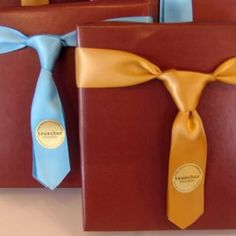 Ribbon Tie  {Gift Wrap}  Perfect for Father's Day or for any man's gift!