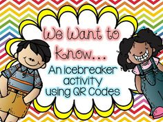QR codes in the classroom are so much fun! This is a great activity for back to school. My students are going to have a BLAST using these simple QR codes.