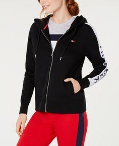 da6b1f2e817 Tommy Hilfiger Sport Zip Logo Hoodie - Black XL Black Hoodie