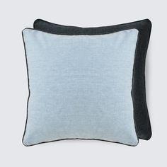 Conway Blue Linen Pillow.