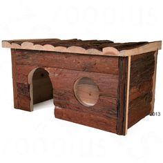 Animalerie  Maisonnette en rondin Jerrik pour rongeur  L 40 x l 23 x H 20 cm