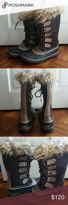 Sorel Winter Boots.  Joan of artic. Worn once.  Selling because there's just not enough snow where I live to where them.  Otherwise they are great boots in great condition. Shoes Winter & Rain Boots