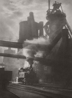 Steam and sunshine, Newcastle BHP, by Harold Cazneaux :: The Collection :: Art Gallery NSW Industrial Photography, Vintage Photography, Street Photography, Art Photography, Straight Photography, Great Photos, Old Photos, Vintage Photos, Harlem Renaissance