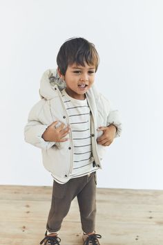 Toddler Boy Outfits, Toddler Boys, Kids Outfits, Puffer Coat With Hood, Family Photo Outfits, Kid Styles, Baby Fever, Kids Fashion, Zara
