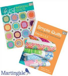 Enter to win Easy Weekend Quilts and Simple Quilts from AllFreeSewing and ShopMartingale. Learn how to make 24 fabulous new quilts.