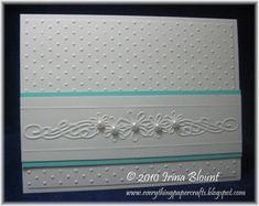 Cuttlebug card using With Love embossing folder.