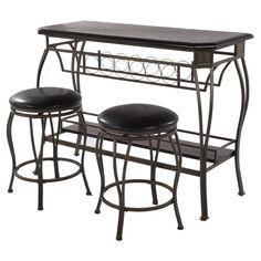 Lovely Bar Height Table Black