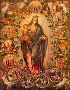 Catholic Prayers, Catholic Art, Catholic Saints, Religious Art, Roman Catholic, Blessed Mother Mary, Blessed Virgin Mary, Hail Holy Queen, Verge