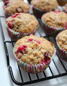 Cranberry oatmeal breakfast muffins- The cranberries (I used frozen) were nice and tangy with just a little sweetness in the muffin.  Might add a little powdered sugar glaze to them for those that like their baked goods a little sweeter.
