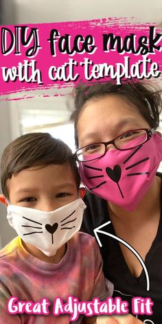 How to Make an easy Cat Face Mask for kids and adults with free pattern and video tutorial! Best coverage and fit. via Easy Crafts Recipes + Geek fun with Marissa of Rae Gun Ramblings mask pattern Sewing Patterns Free, Free Sewing, Free Pattern, Cat Pattern, Loom Patterns, Face Masks For Kids, Cat Face Mask, Homemade Face Masks, Diy Mask