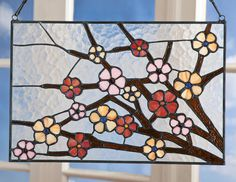 Cherry Blossoms Stained Glass - Acacia