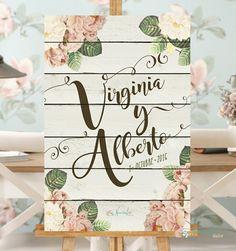 Cartel lettering para boda con el nombre de los novios y fecha del gran día Ideas Para Fiestas, Diy Home Crafts, Cute Designs, Wedding Planning, Wedding Ideas, Dream Wedding, Wedding Decorations, Banner, Place Card Holders
