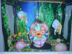 Homemade Fish Aquarium Halloween Costume for a Boy... This website is the Pinterest of costumes