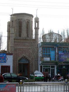 Mosque hemmed in, Hotan, Xinjiang, China