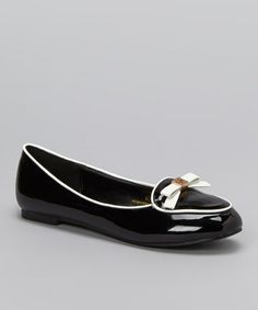 Take a look at this Black Cara Ballet Flat by Chase & Chloe on #zulily today!