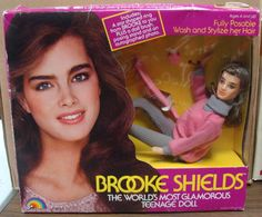 Brooke Shields Doll...she was so much bigger than my Barbies