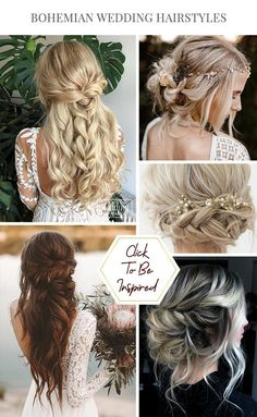 boho wedding hair 42 Boho Wedding Hairstyles Here you will find a plethora of boho wedding hairstyles for any tastes, starting with elegant braided updos and ending with some creative solutions. Braided Ponytail Hairstyles, Boho Hairstyles, Braided Updo, Wedding Hairstyles, Brown Ombre Hair, Ombre Hair Color, Wedding Beauty, Wedding Bride, Wedding Nails
