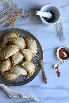 Today we get to enjoy Inks + Thread founder, Maggie Pate's photography & styling skills as she shares a Thanksgiving recipe of Butternut Squash Empanadas!