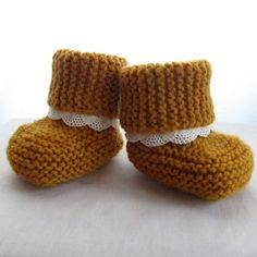 Like the lace added to the cuff - Bootees