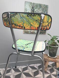 table basse vintage avec motifs oiseaux 1950 bas. Black Bedroom Furniture Sets. Home Design Ideas