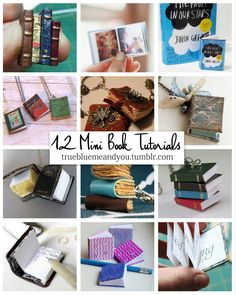 Make tiny books and have your whole Hogwarts reading list on one necklace. DIY 12 Favorite Miniature Book Tutorials. Mini DIY books have always been very popular on my blog, so here is a roundup of them all in one place. Miniature Book from 1 Inch Minis. No Sew and No Adhesives Miniature Book from gohlikim. Miniature Book...