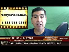 San Antonio Spurs vs. Portland Trailblazers Pick Prediction NBA Odds Pre...