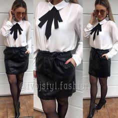 NOVINKA Blúzka s mašľou ale aj Koženková sukňa  UNI 1890 a sukňa 1990 EXPRESNÉ DORUČENIE DO VIANOC ! #newcollection#tvojstylfashion