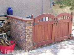 hide outdoor trash cans | Beautiful Outdoor Living Spaces...hides trash cans