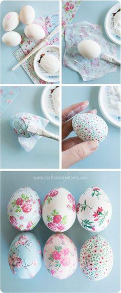 Pretty decoupage eggs! Home Stories A to Z