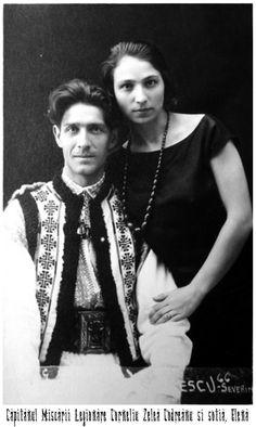 Corneliu Zelea Codreanu and his wife Elena Ilinoiu Codreanu Old Pictures, Old Photos, Vintage Photos, Post War Era, Transylvania Romania, Interesting Reads, St Michael, World War Ii, Pet Portraits