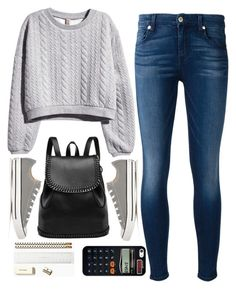 """back to school"" by ecem1 ❤ liked on Polyvore featuring H&M, 7 For All Mankind, Converse, Casetify and Kate Spade"