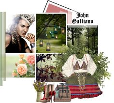 """""""John Galliano"""" by crazydita ❤ liked on Polyvore"""