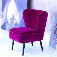 French fifties slipper chair - magenta save 180 - sold